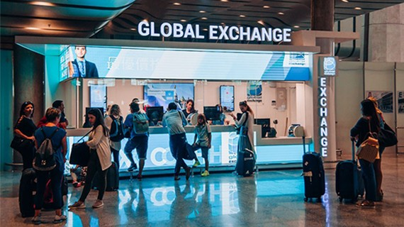 Il chiosco di Global Exchange